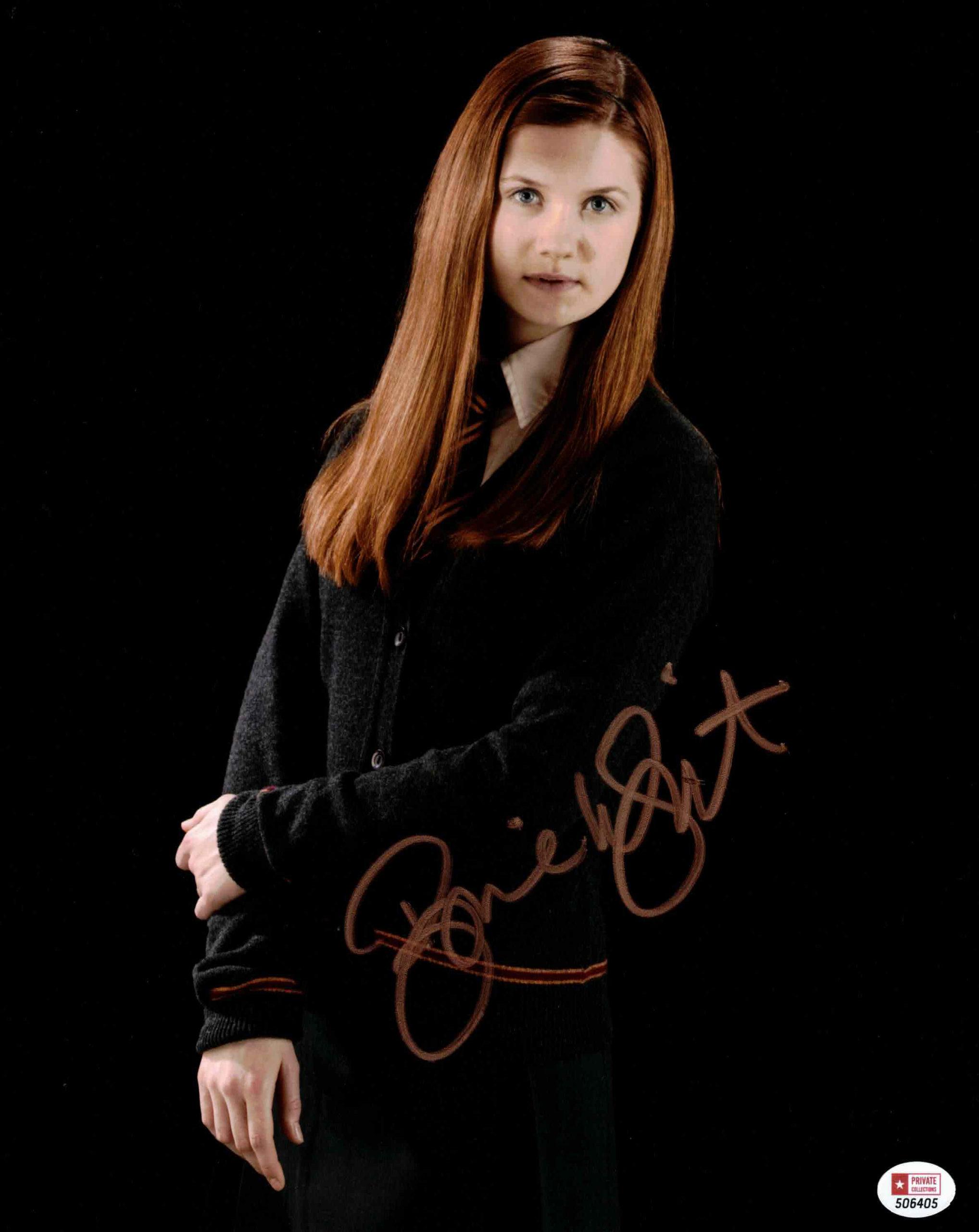 Bonnie Wright / Ginny Weasleyová, Harry Potter - autogram