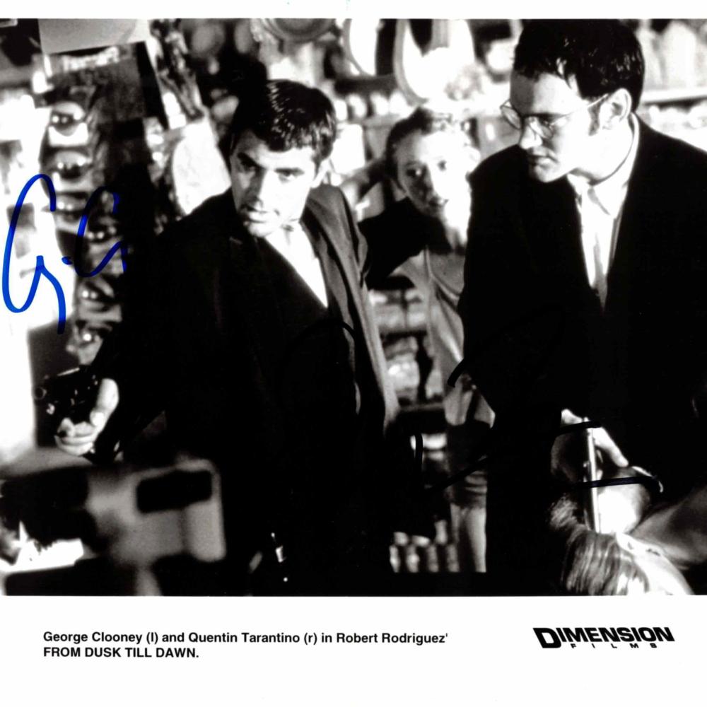 Quentin Tarantino & George Clooney - autogram