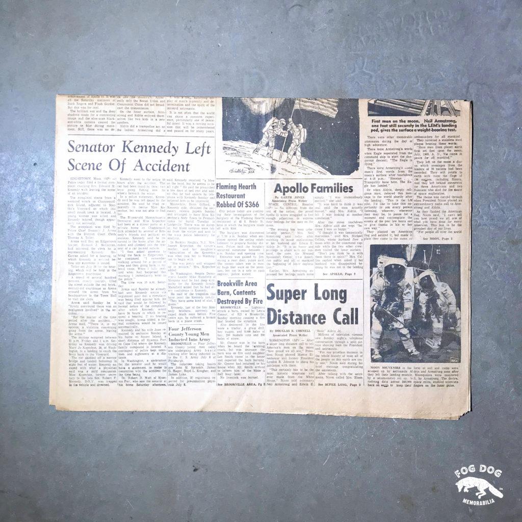 Vydání novin z 21.7.1969 - ONE SMALL STEP FOR MAN...
