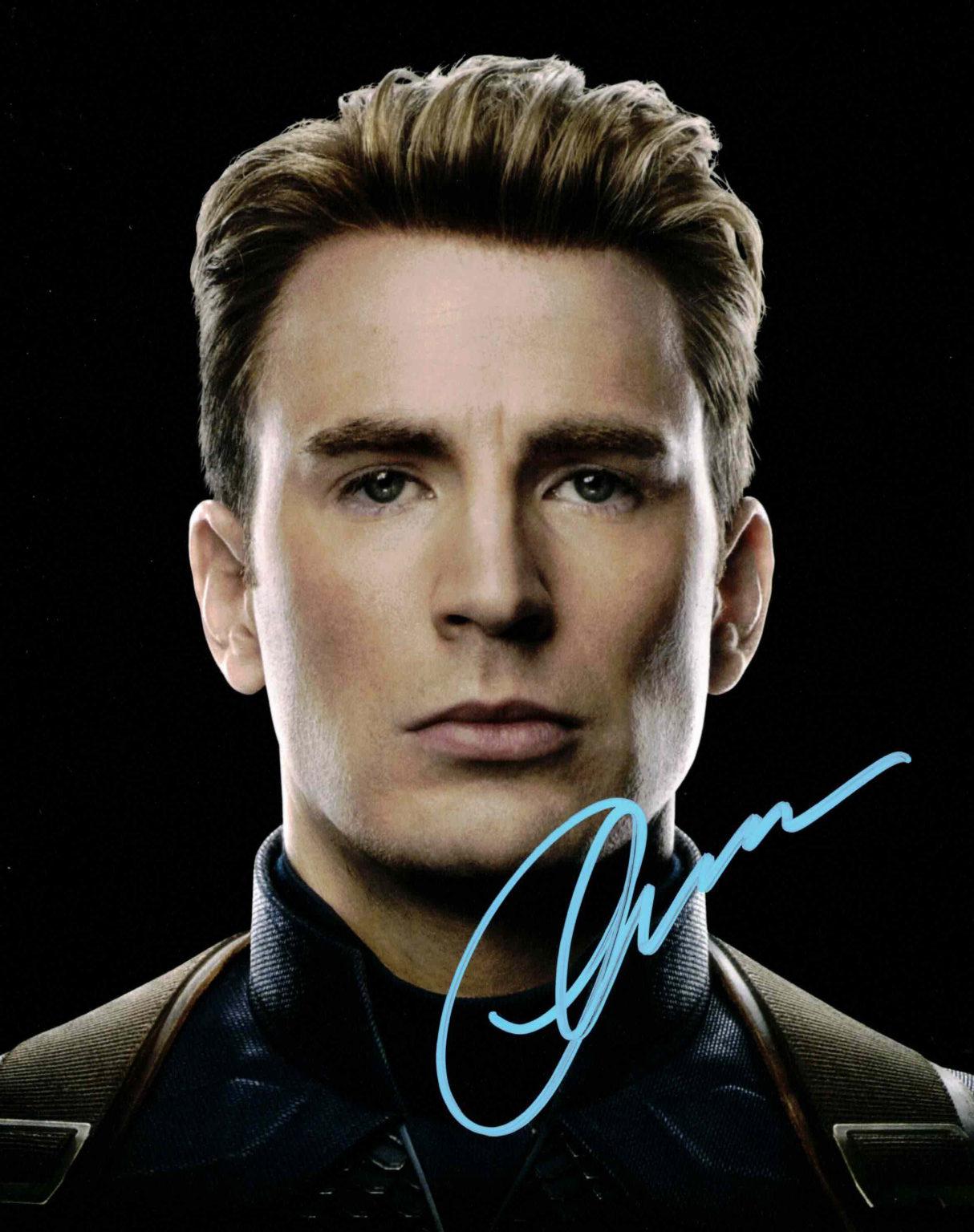 Chris Evans / Cpt. America, Avengers - autogram