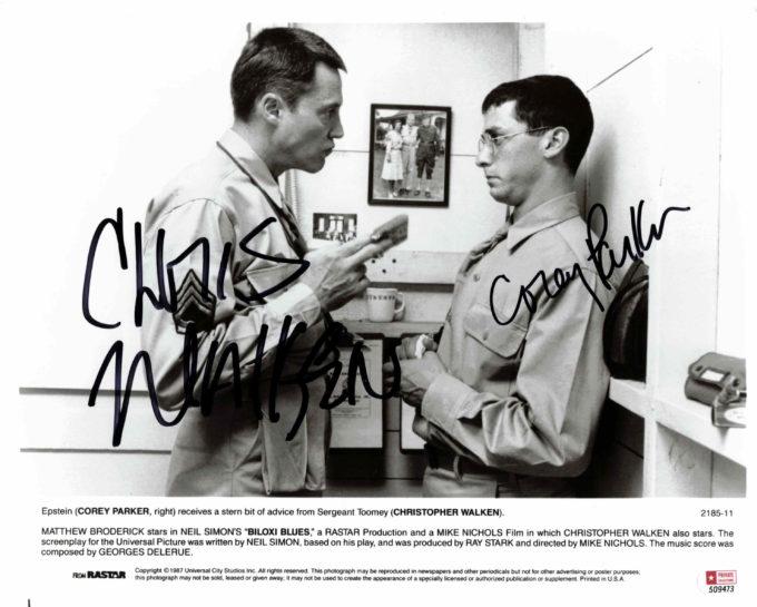 Christopher Walken & Corey Parker - autogram