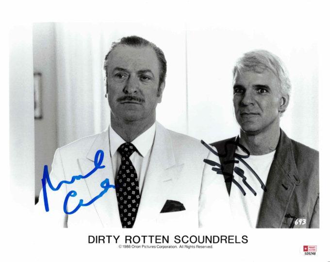 Michael Caine & Steve Martin - autogram