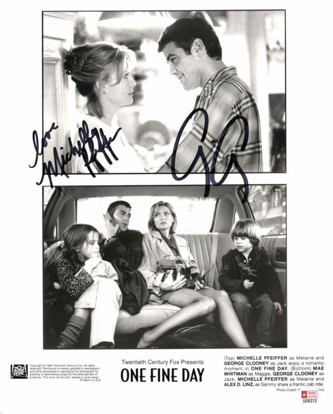 George Clooney & Michelle Pfeiffer - autogram