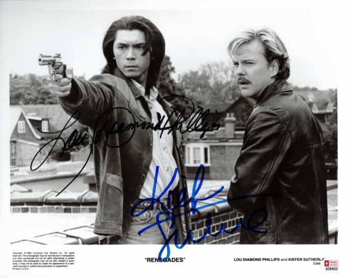 Kiefer Sutherland & Lou Diamond Phillips - autogram