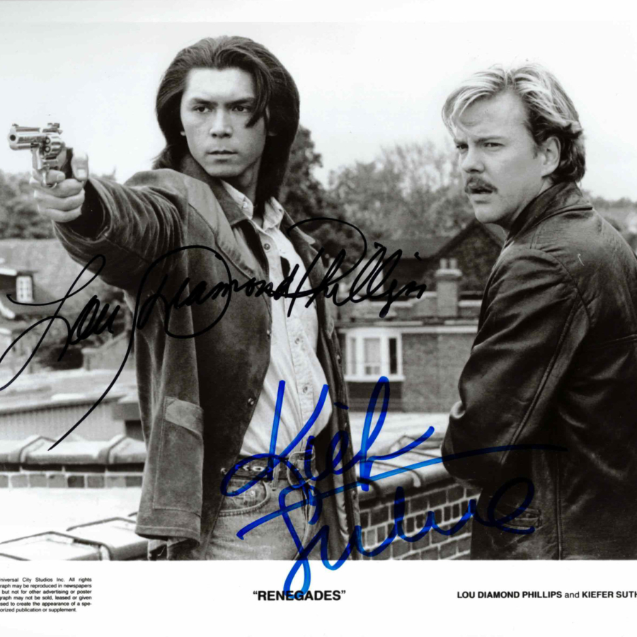 Kiefer Sutherland & Lou Diamond Phillips - autogram