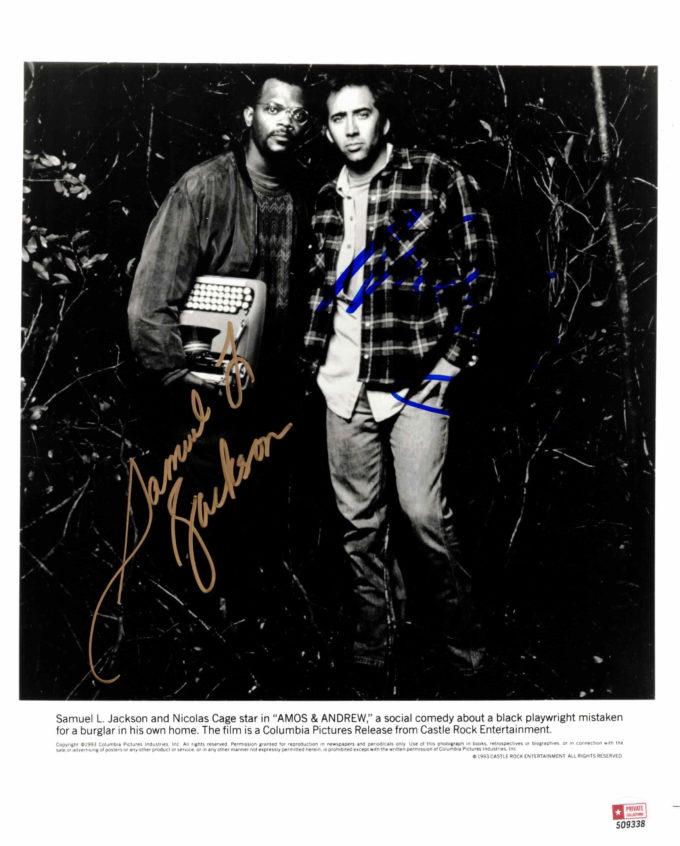 Samuel L. Jackson & Nicholas Cage - autogram