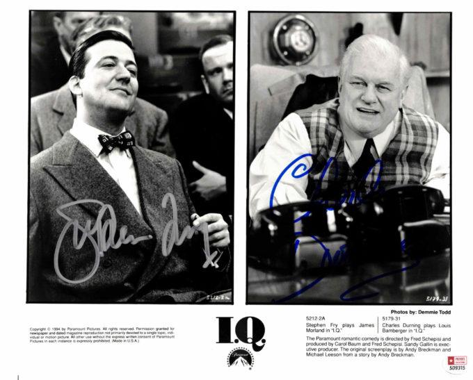 Charles Durning & Stephen Frye - autogram