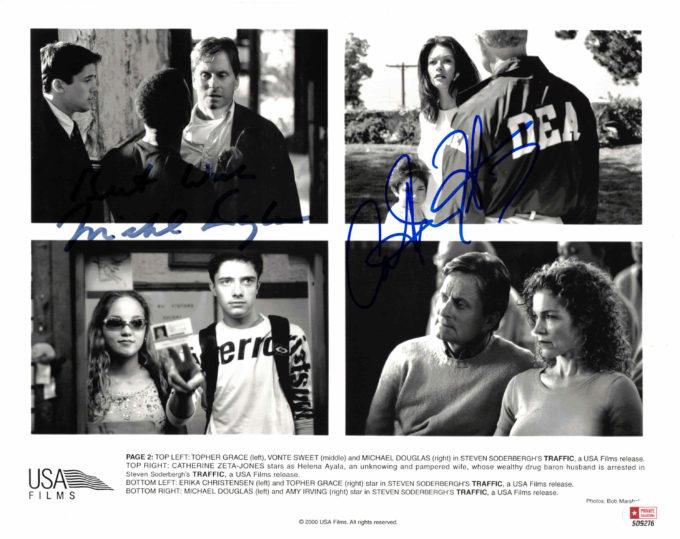 Michael Douglas & Catherine-Zeta Jones - autogram