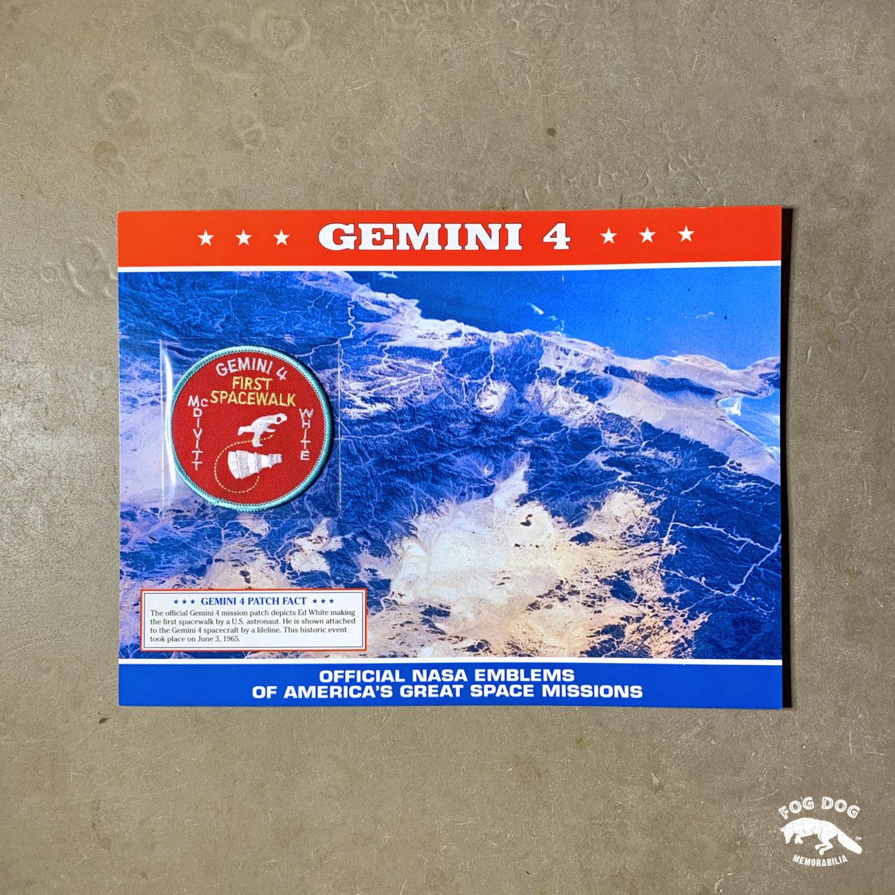 Oficiální textilní nášivka NASA - GEMINI 4