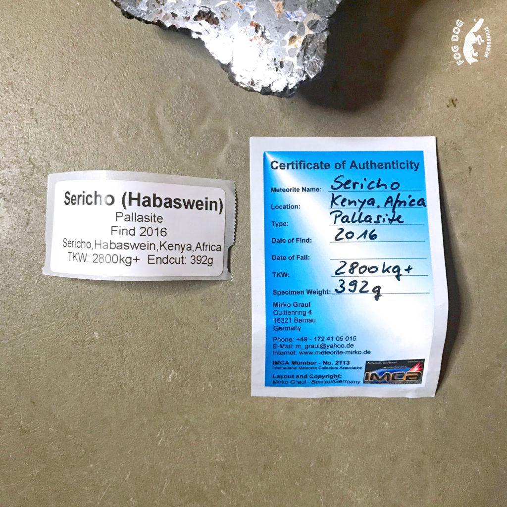 Meteorit, leštěný - vážící 392g!