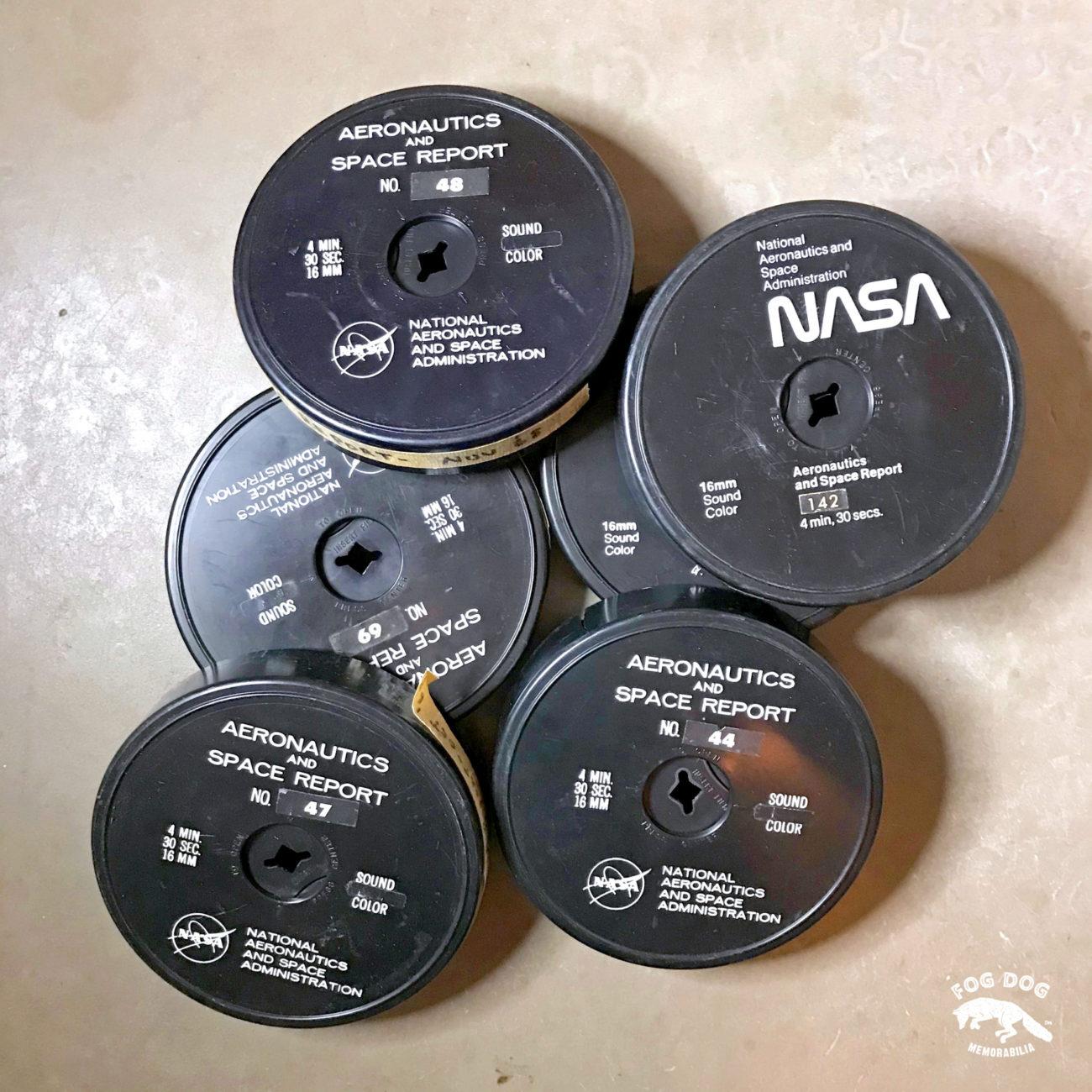 Starý 16mm pásek se záznamen NASA AERONAUTICS AND SPACE REPORT (1 ks)