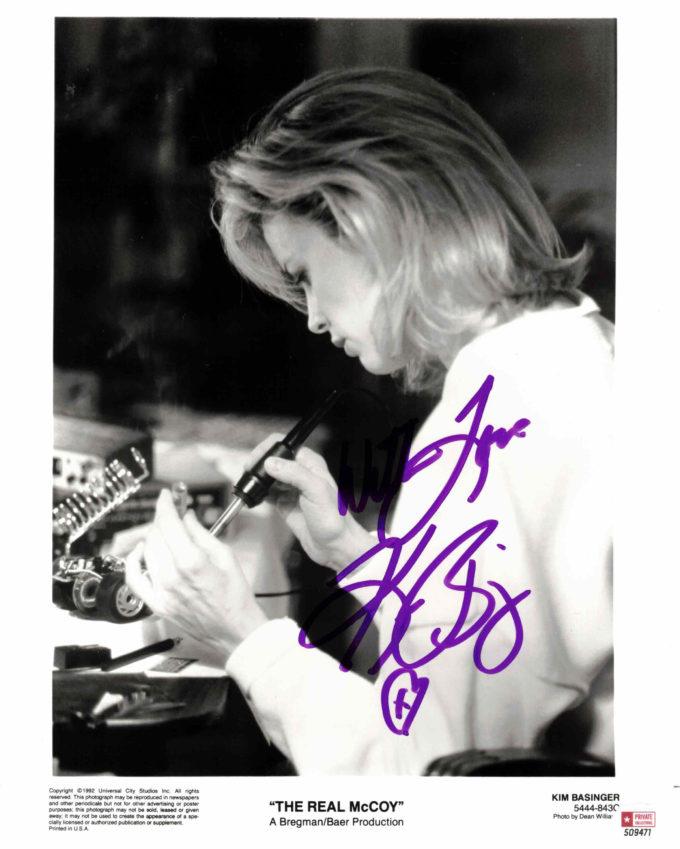 Kim Basinger - autogram