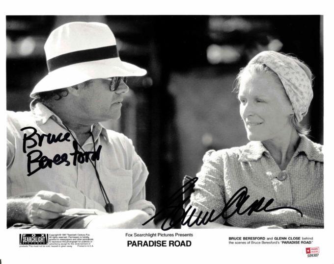 Glenn Close & Bruce Beresford - autogram