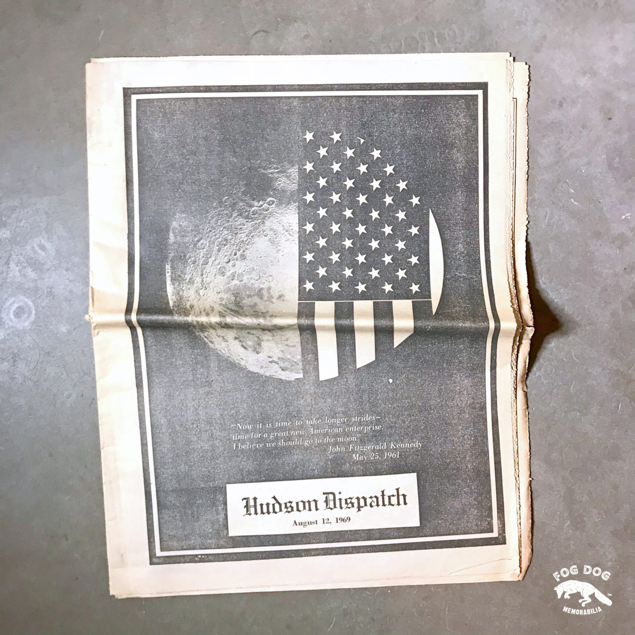 Vydání novin z roku 1969 - mise NASA, Apollo 11