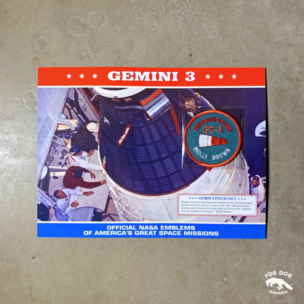 Oficiální textilní nášivka NASA - GEMINI 3