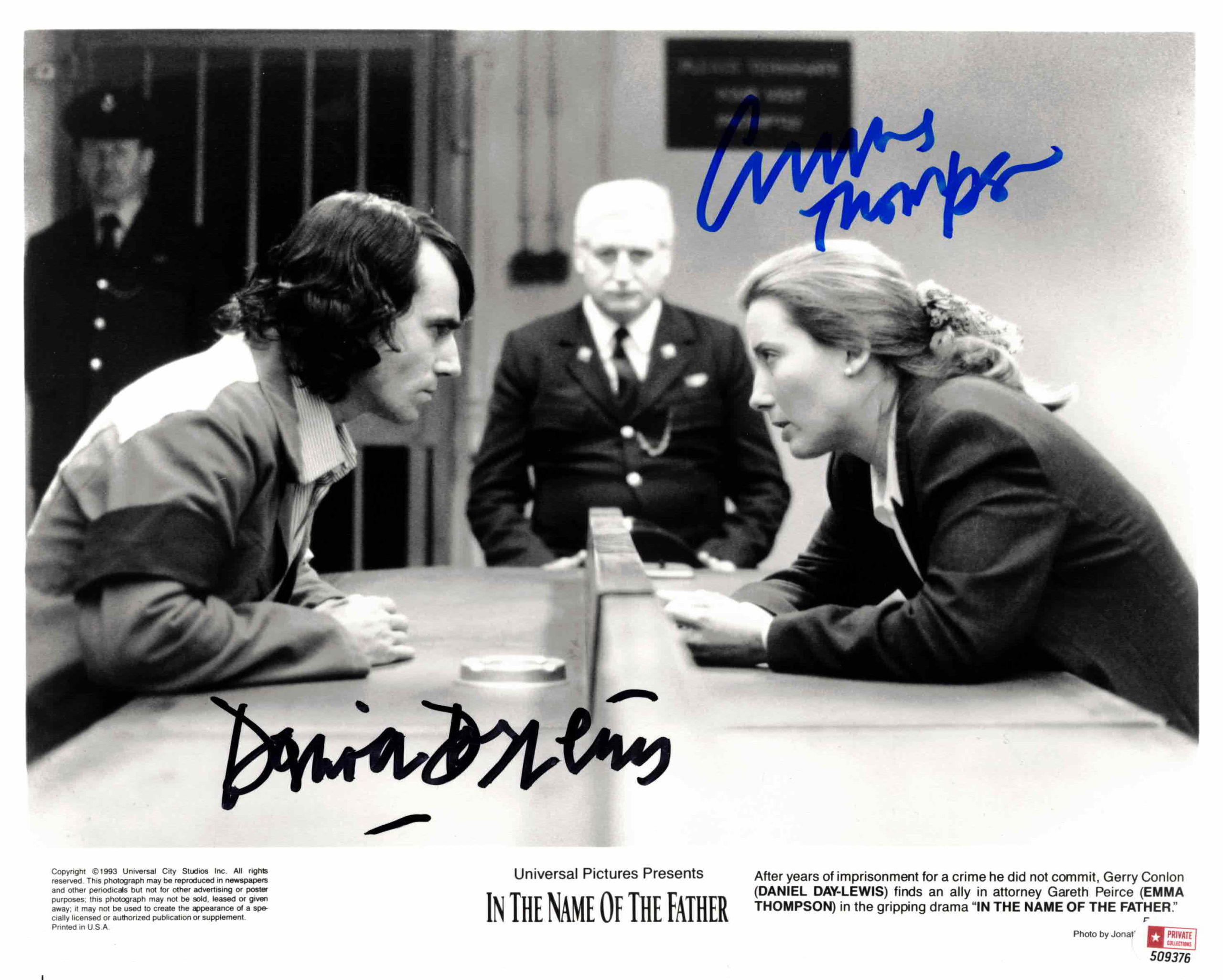 Emma Thompson & Daniel Day-Lewis - autogram