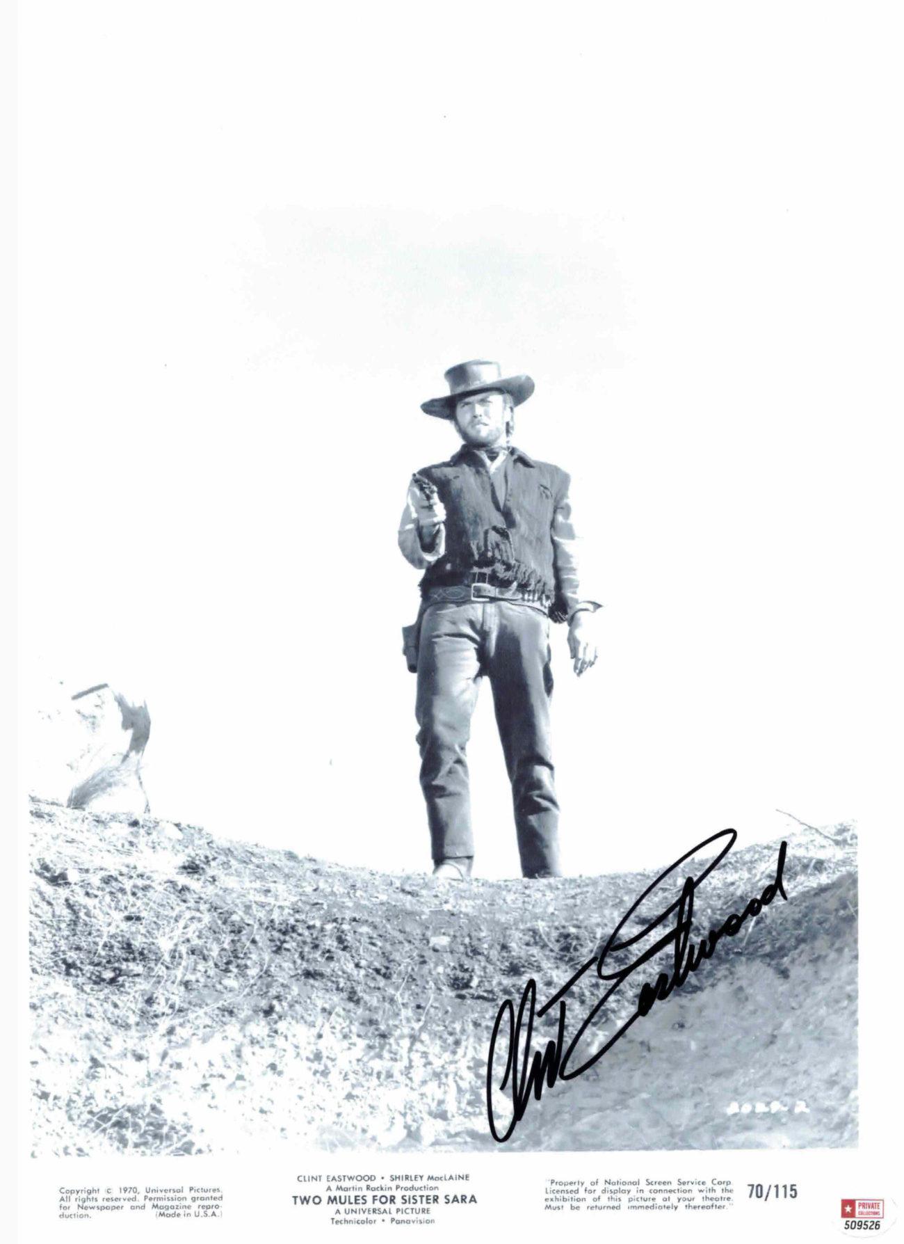 Clint Eastwood - autogram