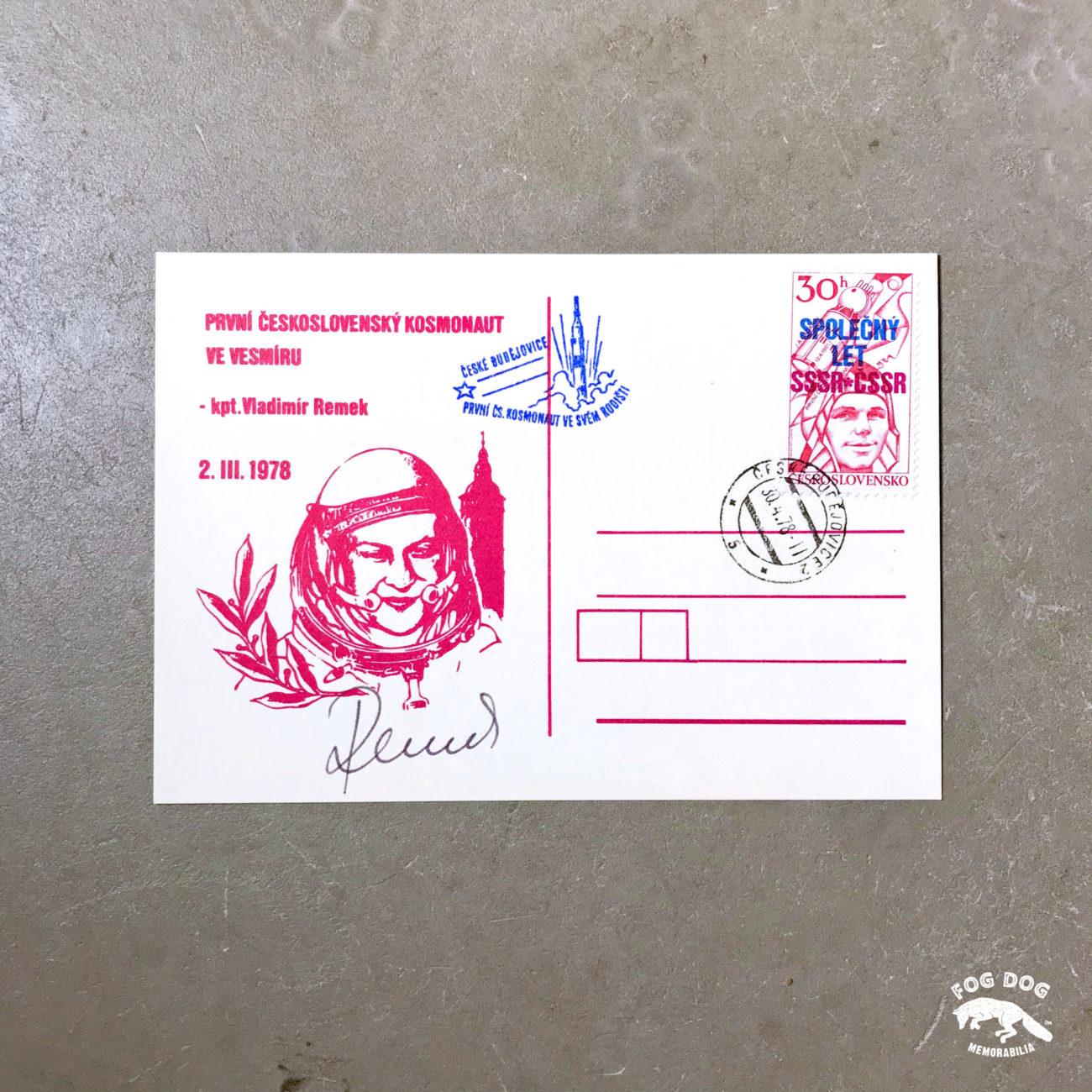 Autogram / astronaut Vladimír Remek - československý kosmonaut