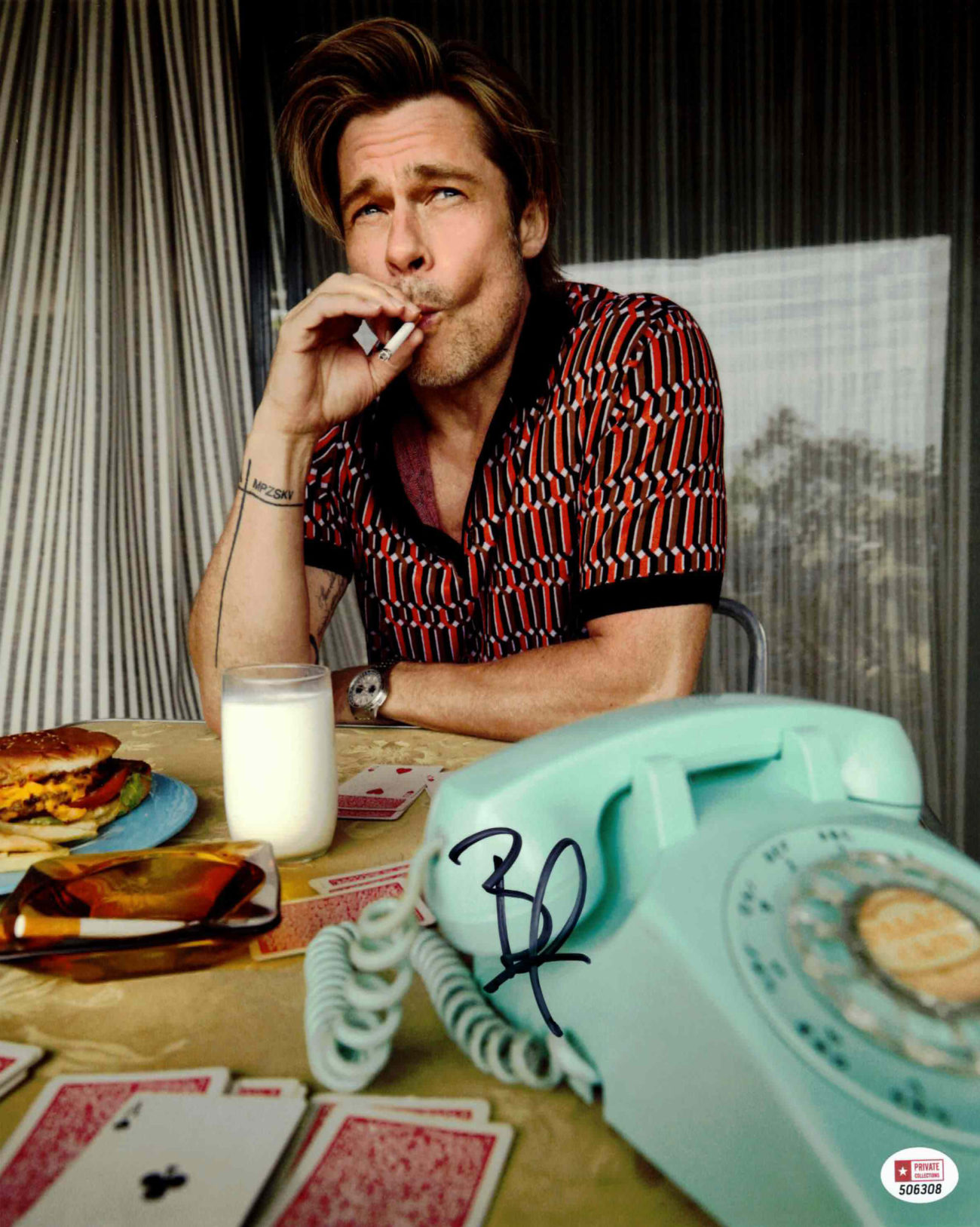 Brad Pitt / Tenkrát v Hollywoodu - autogram