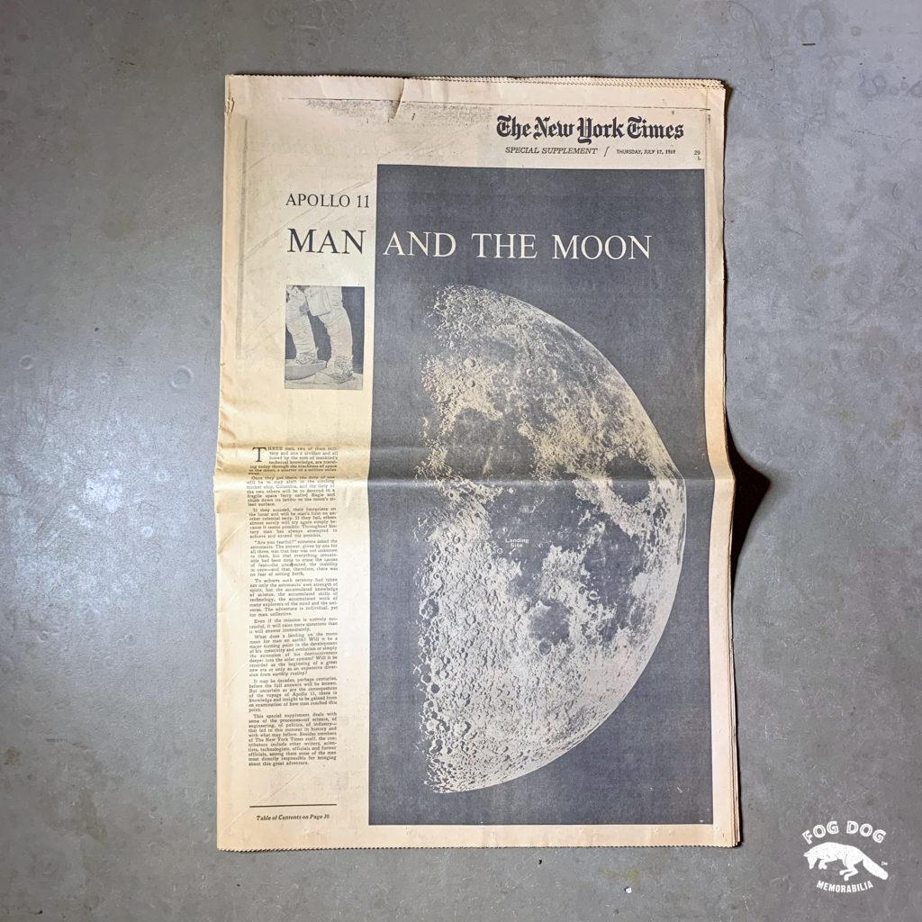 Vydání novin z 17.7.1969 - MAN AND THE MOON