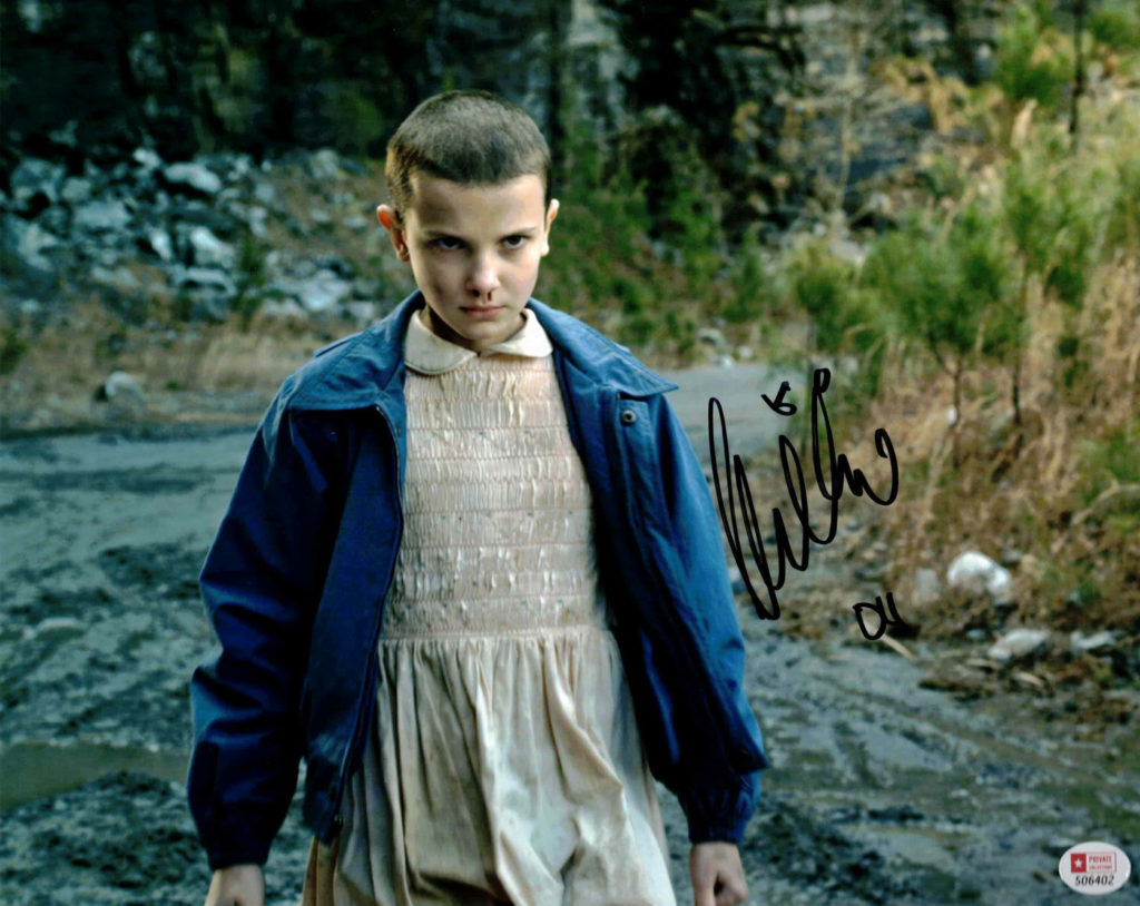 Millie Bobby Brown / Eleven, Stranger Things - autogram
