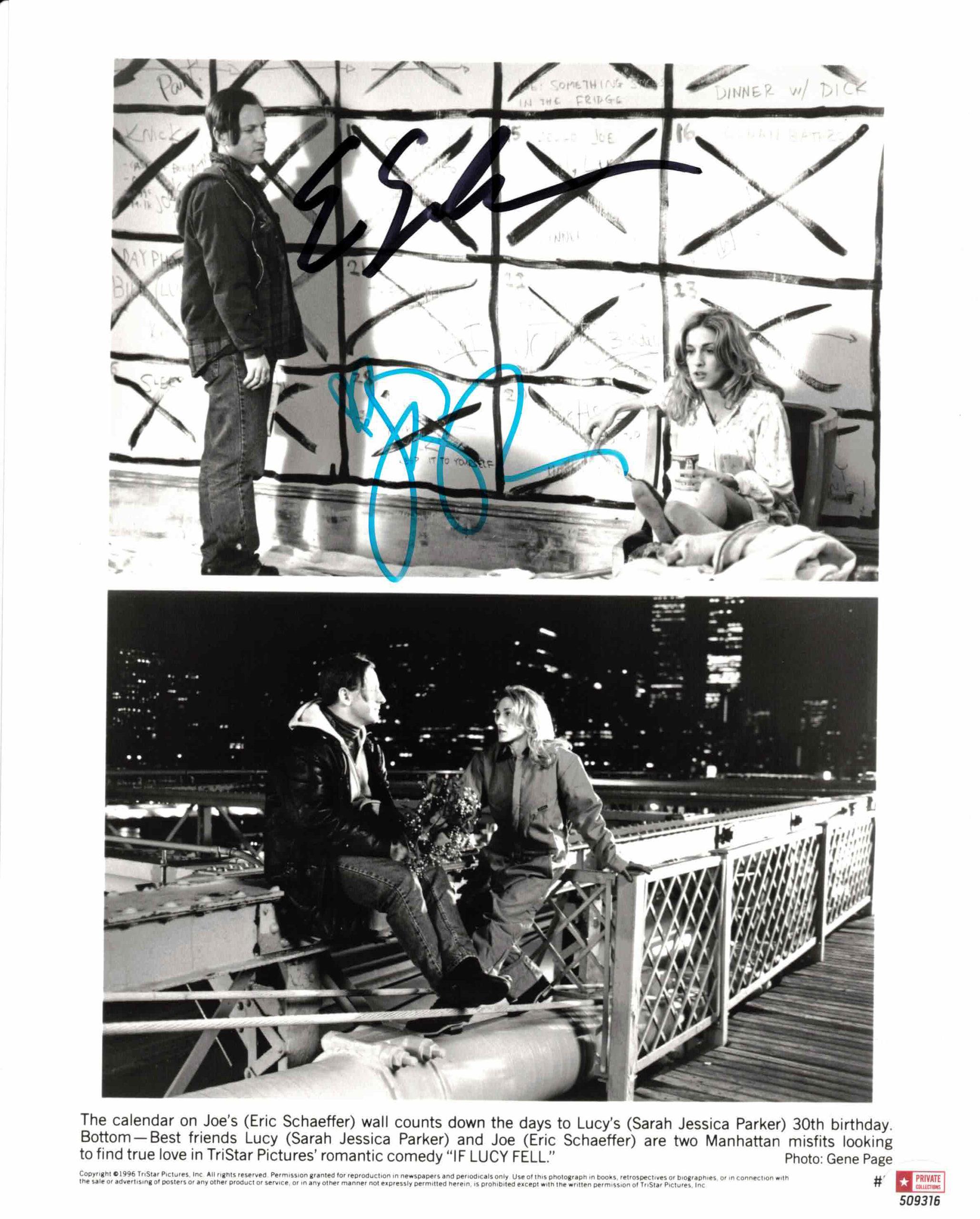 Sarah Jessica Parker & Eric Schaeffer - autogram