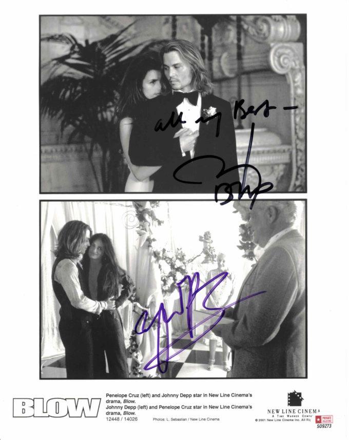 Johnny Depp & Penelope Cruz - autogram