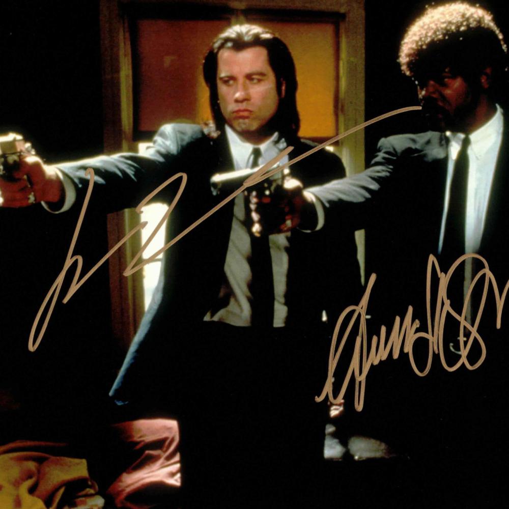 John Travolta & Samuel L Jackson / PULP FICTION - autogram