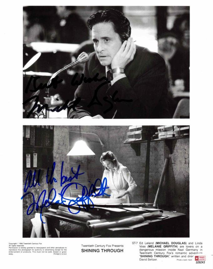 Michael Douglas & Melanie Griffith - autogram