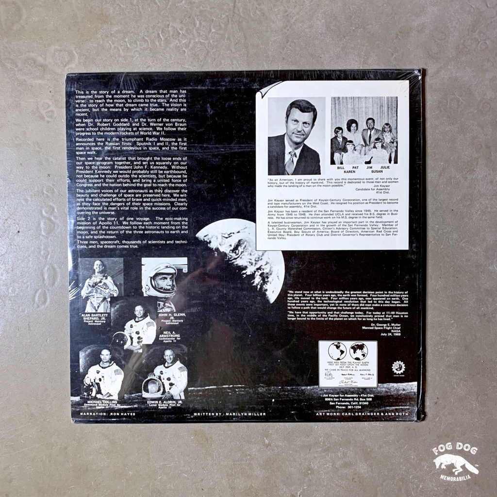 LP deska - NASA 1969 - We Came in Peace for All Mankind
