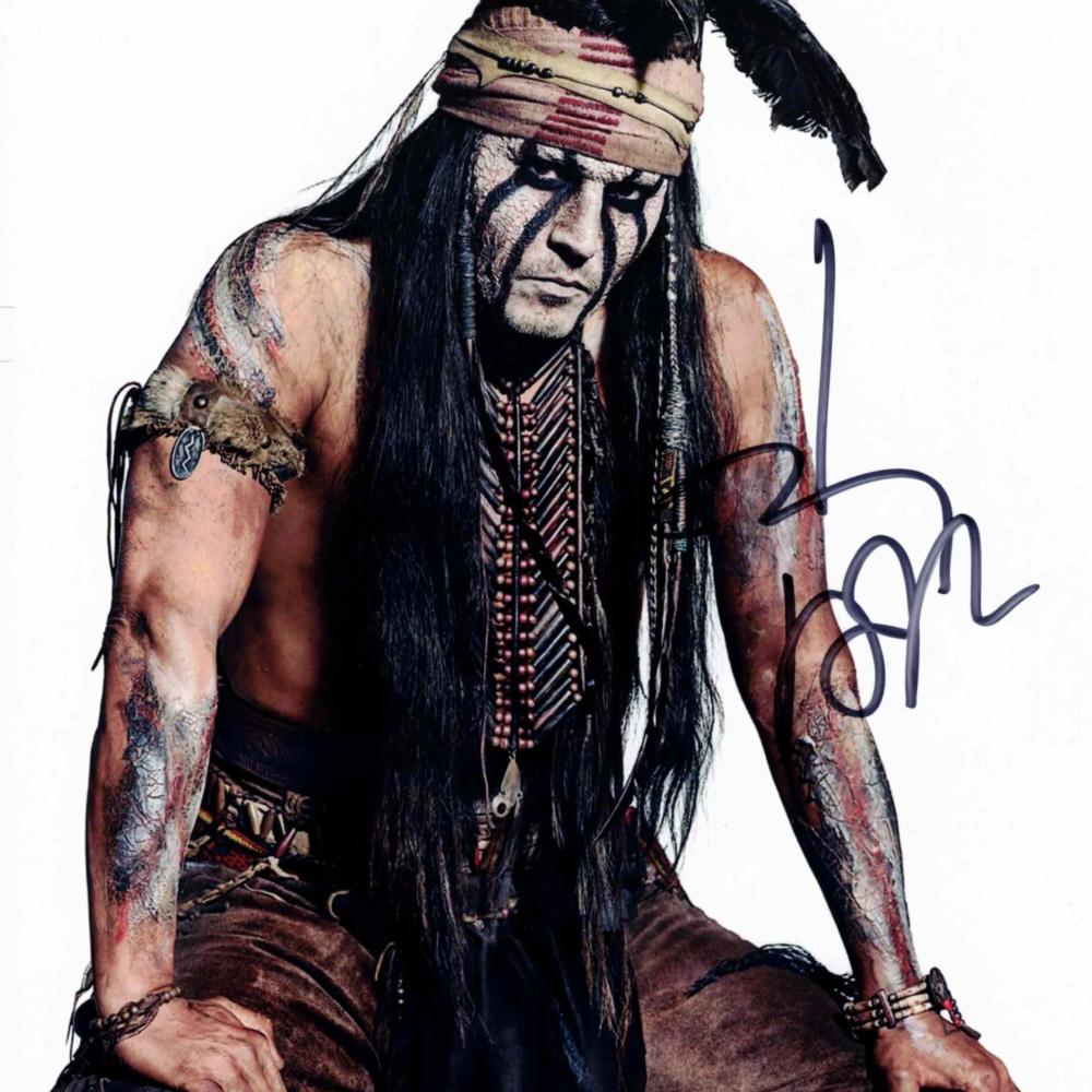 Johnny Depp / Osamělý jezdec - autogram