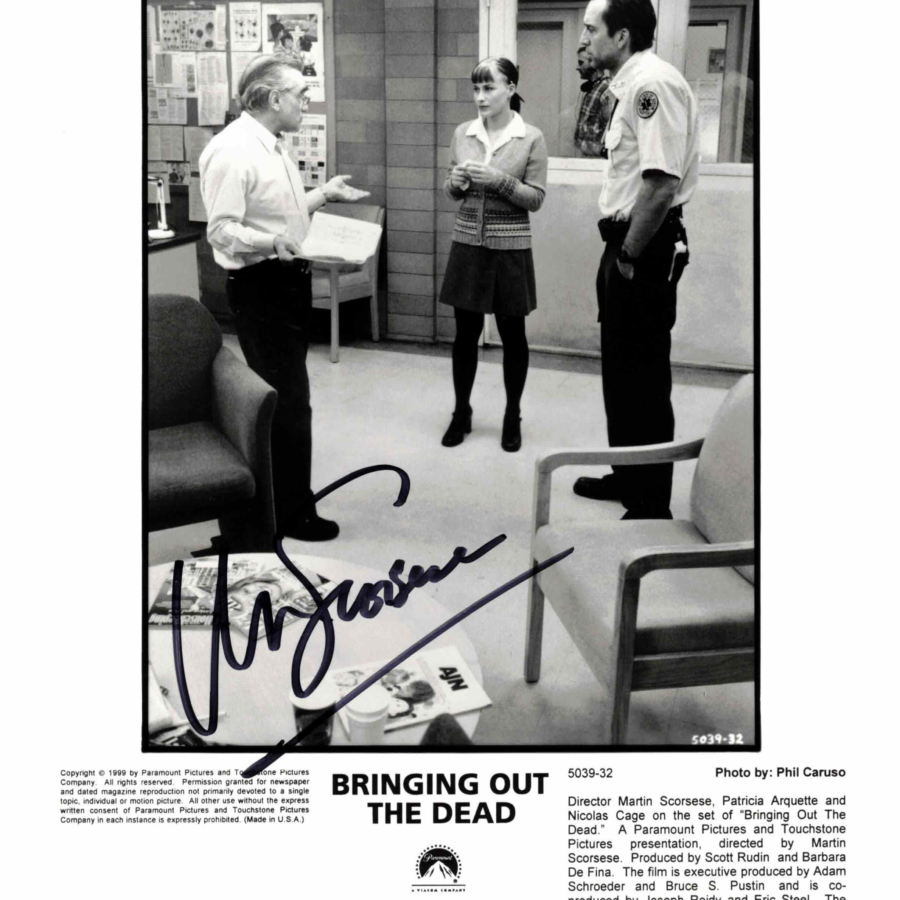 Martin Scorsese - autogram