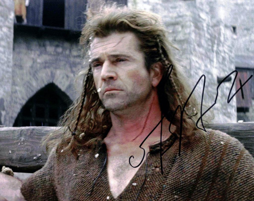 Mel Gibson / Statečné srdce - autogram
