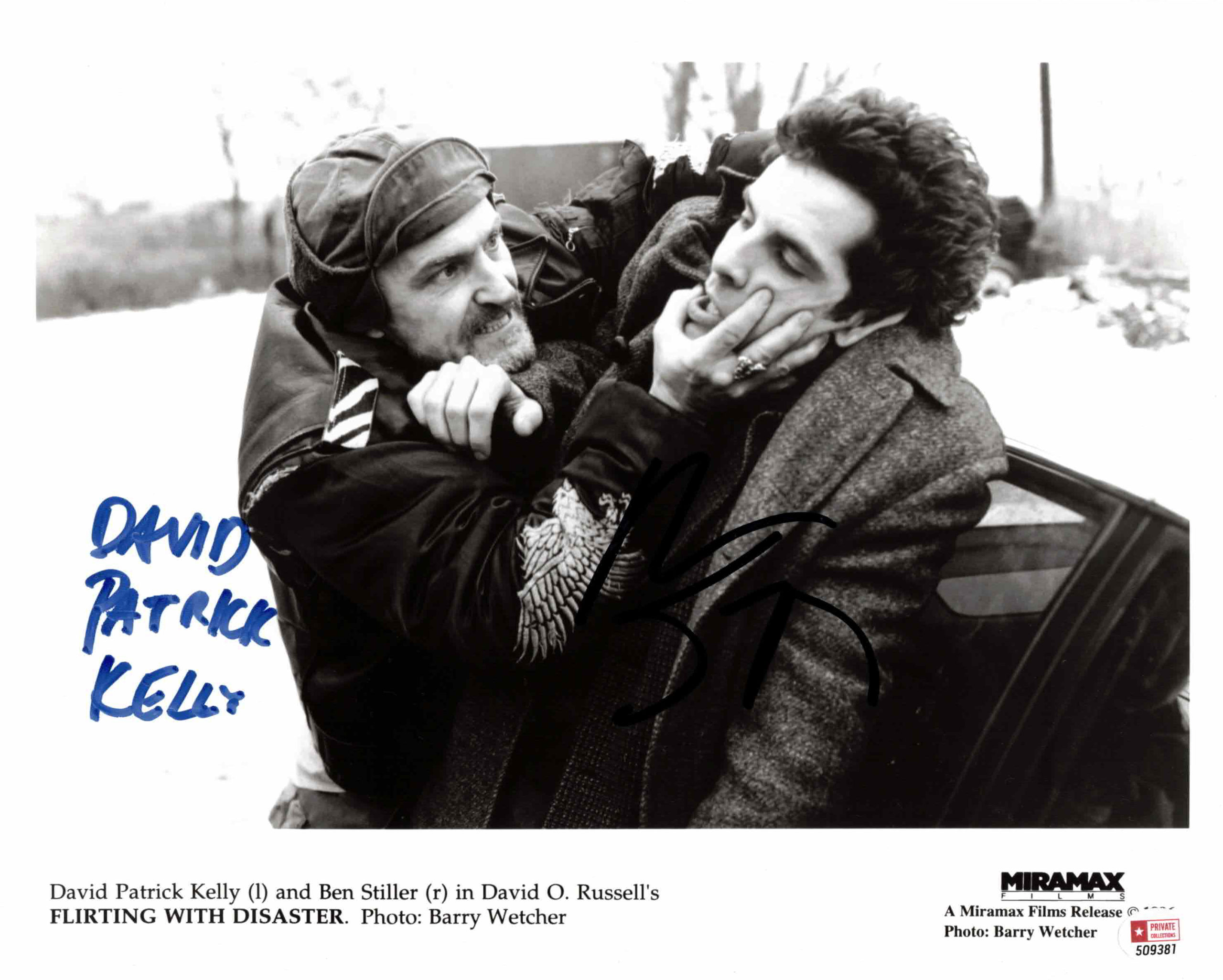 Ben Stiller & David Patrick Kelly - autogram