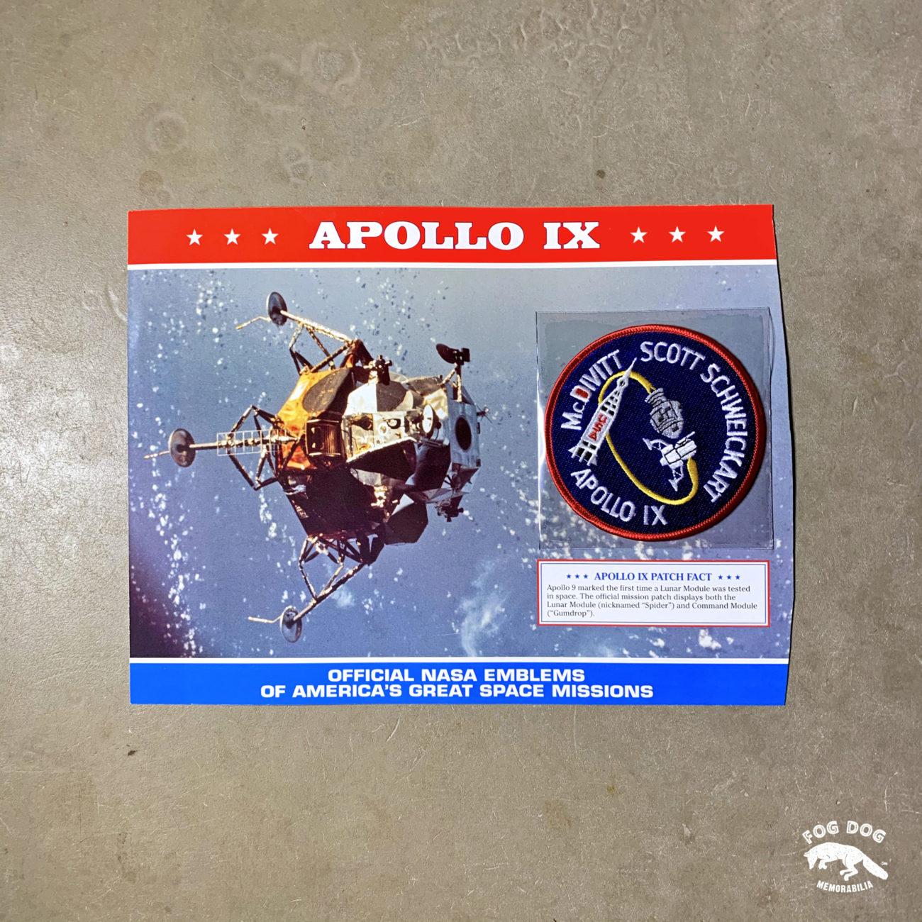 Oficiální textilní nášivka NASA - APOLLO IX