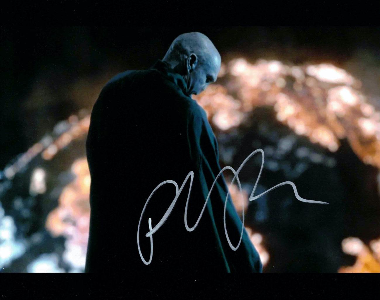 Ralph Fiennes / Lord Voldemort, Harry Potter - autogram