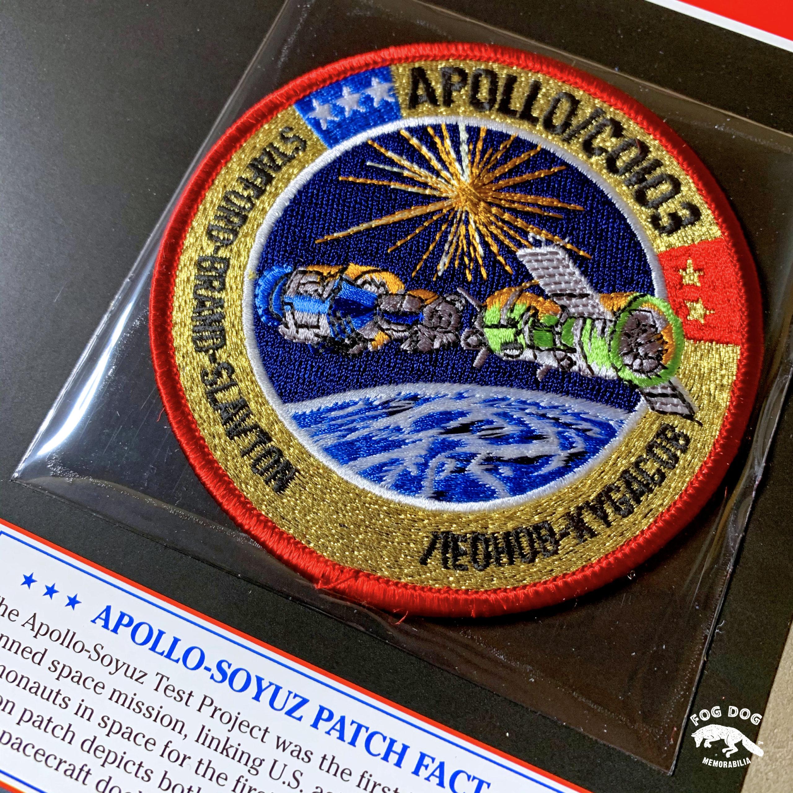 Oficiální textilní nášivka NASA - APOLLO-SOYUZ