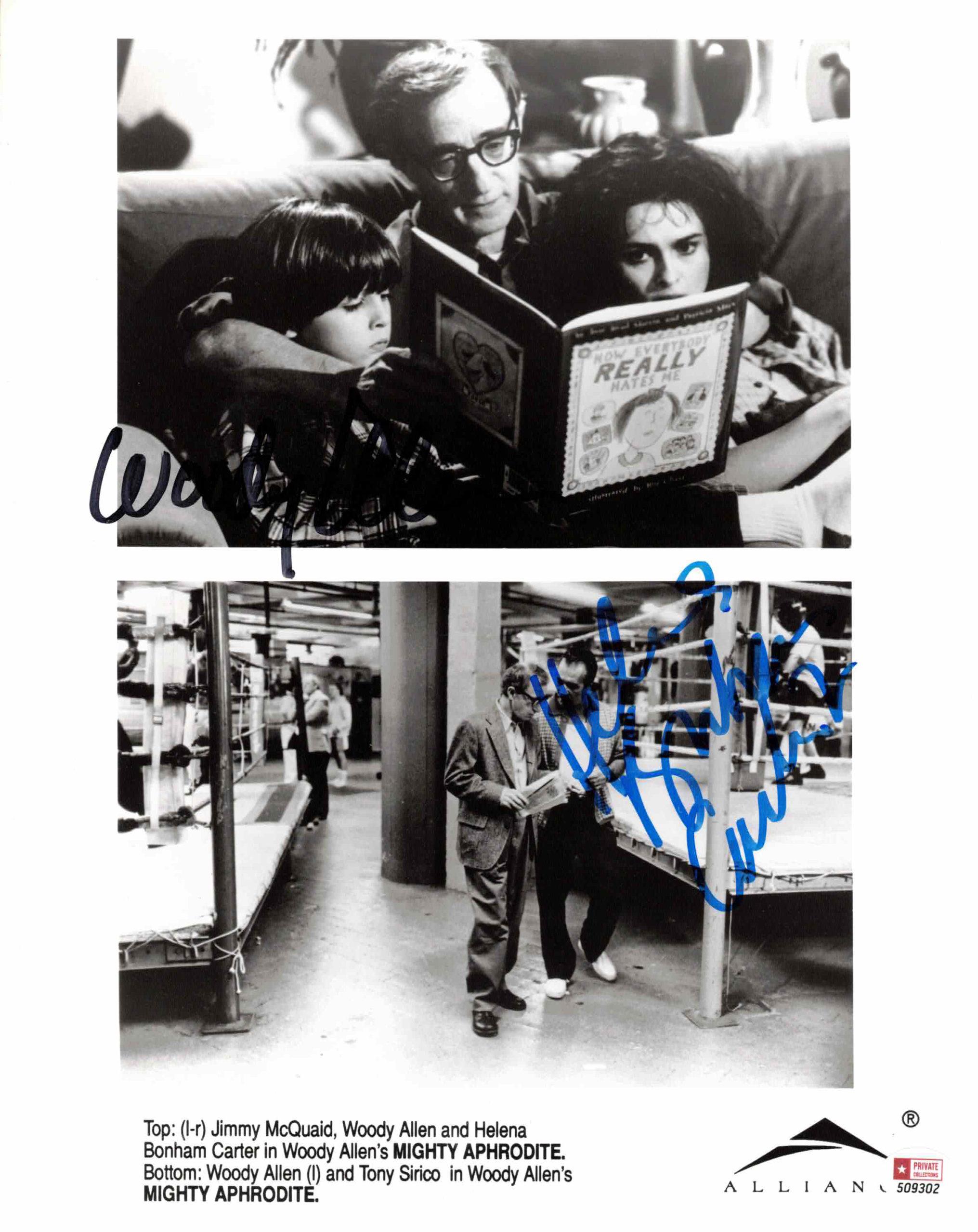 Woody Allen & Helena Bonham Carter - autogram