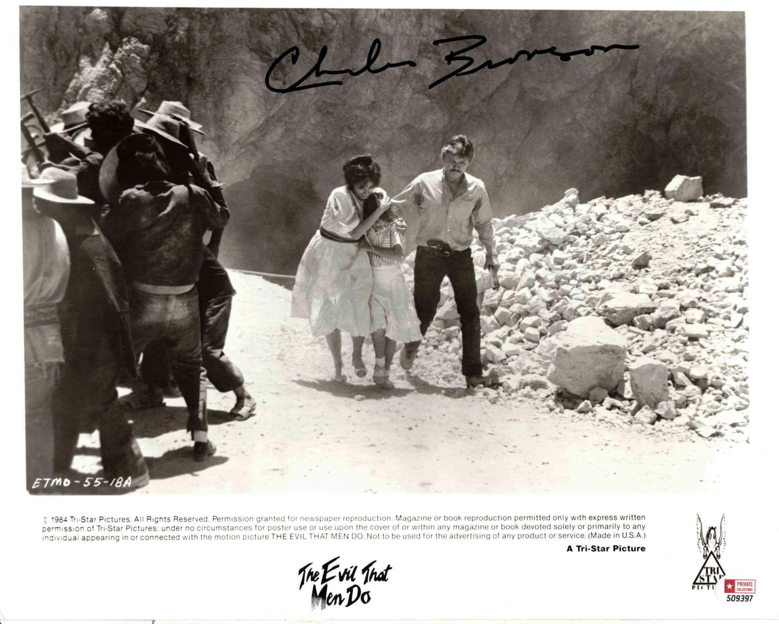Charles Bronson - autogram