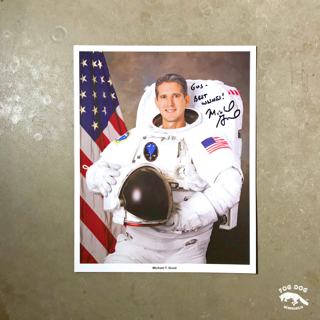 Autogram / astronaut Michael T. Good