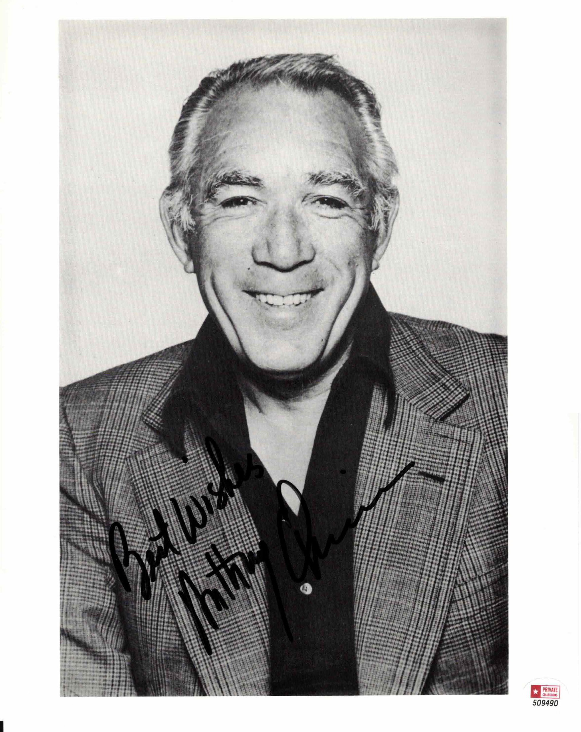 Anthony Quinn - autogram