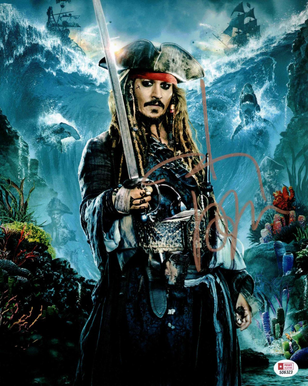 Johnny Depp / Jack Sparrow, Piráti z Karibiku - autogram