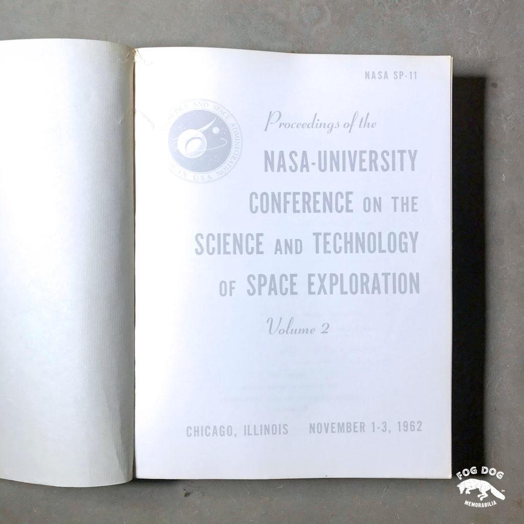 Příručka NASA - University Conference on Science, Space Exploration z roku 1962