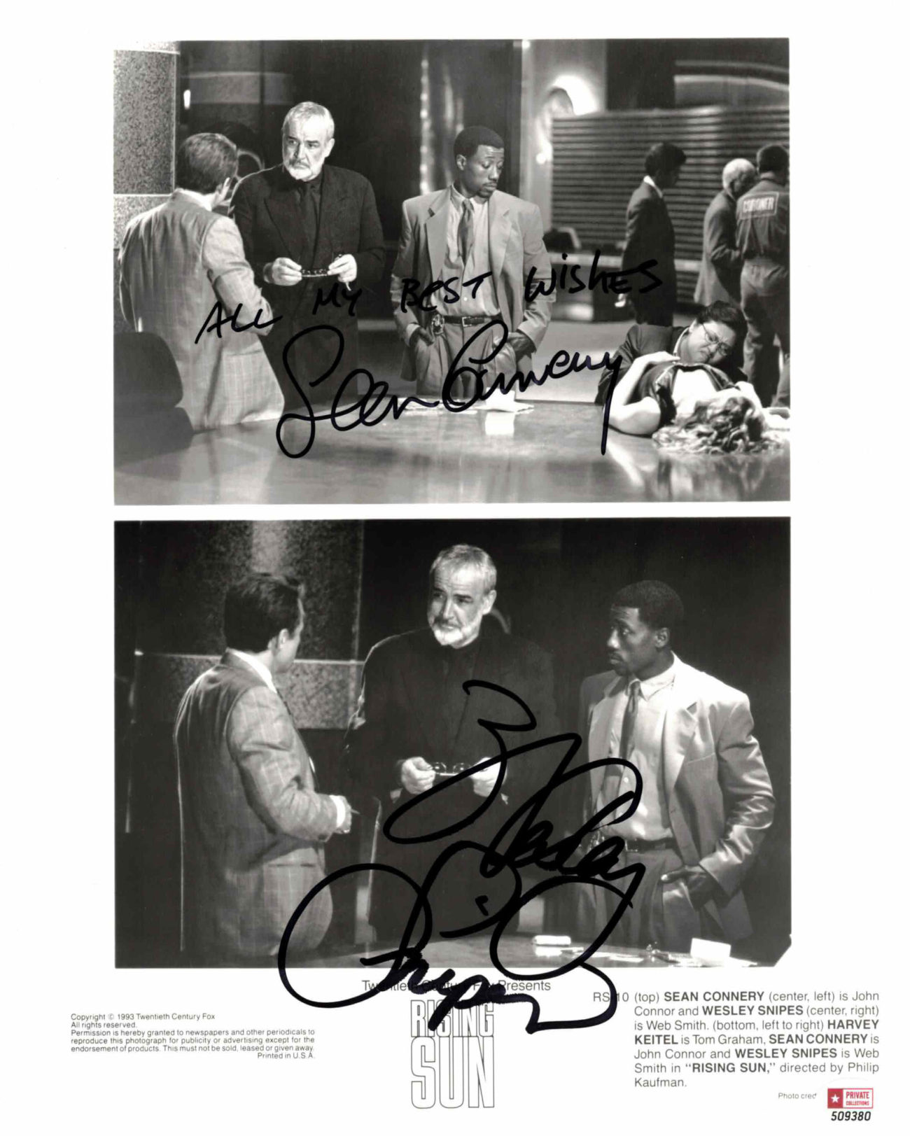 Sean Connery & Wesley Snipes - autogram