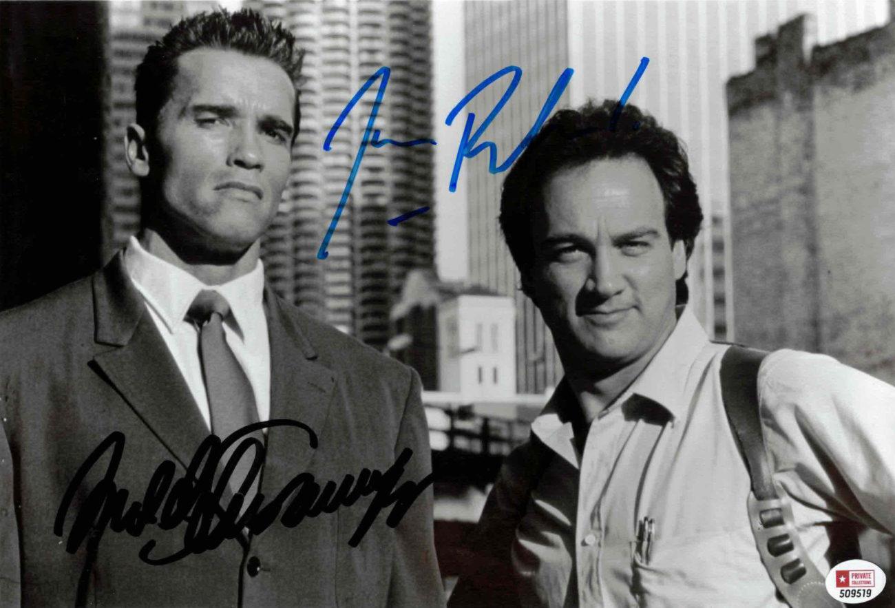 Arnold Schwarzenegger & Jim Belushi - autogram