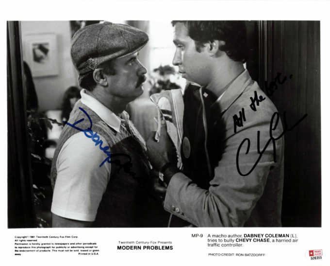 Dabney Coleman & Chevy Chase - autogram