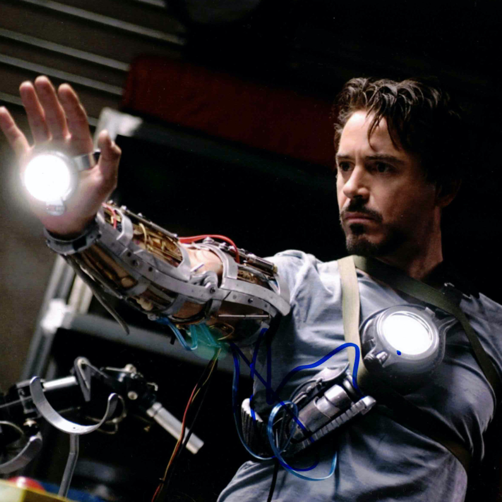 Robert Downey Jr. / Iron Man - autogram