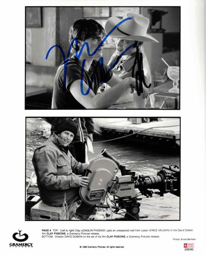 Joaquin Phoenix & Vince Vaughn - autogram