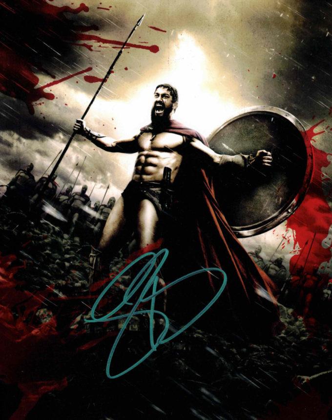 Gerard Butler / 300 - autogram