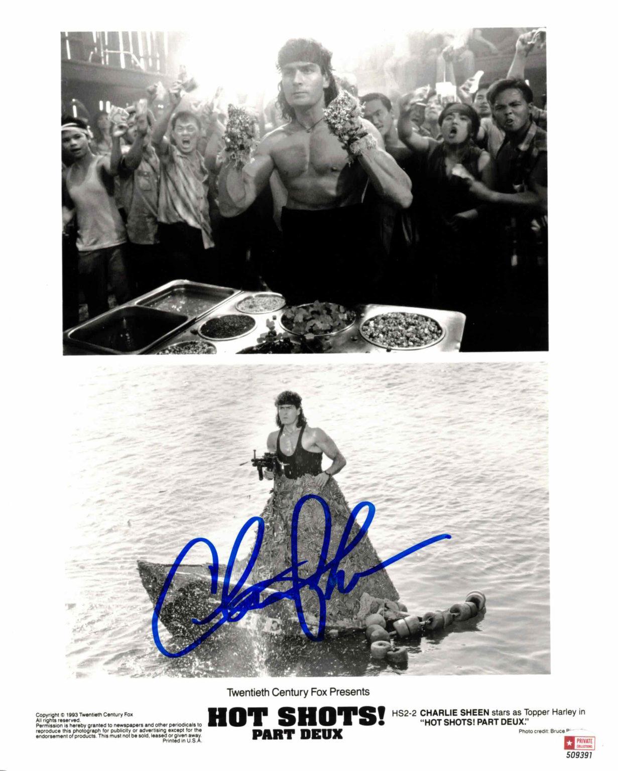 Charlie Sheen - autogram